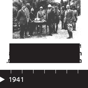 """1941 האיכרים הופכים לבעלי רכושם מידי יק""""א. צעירי המושבה מתגייסים לצבא הבריטי ולנוטרים."""